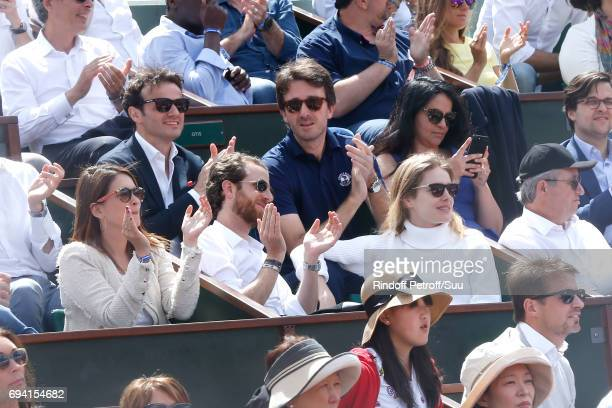 Natalia Vodianova and General manager of Berluti Antoine Arnault attend the 2017 French Tennis Open Day Thirteen at Roland Garros on June 9 2017 in...