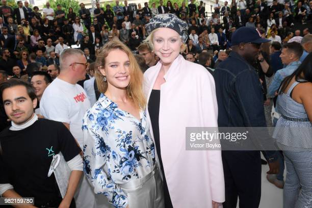 Natalia Vodianova and Gwendoline Christie attend the Dior Homme Menswear Spring/Summer 2019 show as part of Paris Fashion Week on June 23 2018 in...