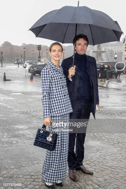 Natalia Vodianova and her husband Antoine Arnault attend the Dior Womenswear Spring/Summer 2021show as part of Paris Fashion Week on September 29,...