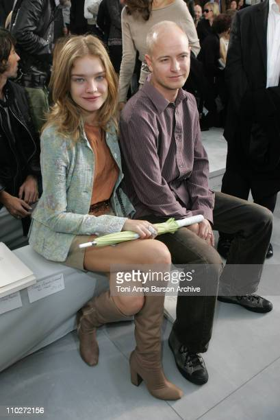 Natalia Vodianova and Justin Portman during Paris Fashion Week Pret a Porter Spring/Summer 2006 Chanel Front Row at Grand Palais in Paris France