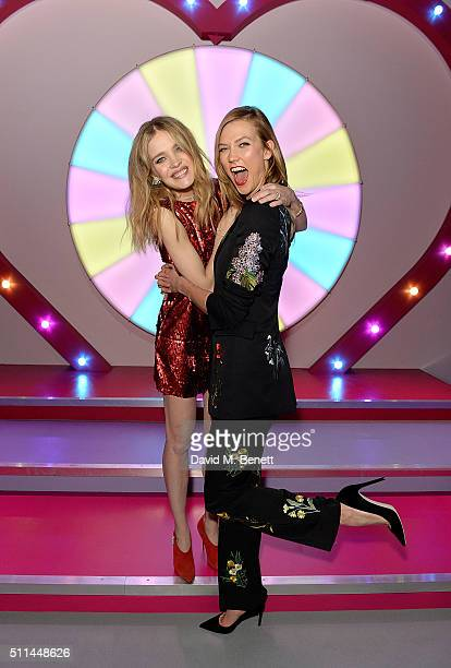 Natalia Vodianova and Karlie Kloss at The Naked Heart Foundation's Fabulous Fund Fair in London at Old Billingsgate Market on February 20 2016 in...