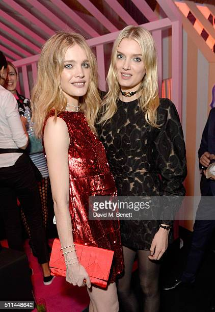 Natalia Vodianova and Lily Donaldson at The Naked Heart Foundation's Fabulous Fund Fair in London at Old Billingsgate Market on February 20 2016 in...