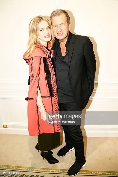 Natalia Vodianova and Mario Testino attend Buro 24/7 Family Presentation of 9 Fashion Designers from Russia Ukraine and Kazakhstan at Hotel Bristol...