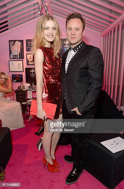 Natalia Vodianova and Nicholas Kirkwood at The Naked Heart Foundation's Fabulous Fund Fair in London at Old Billingsgate Market on February 20 2016...
