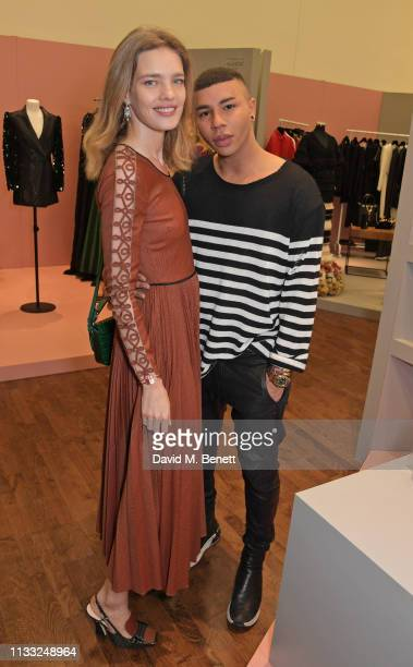 Natalia Vodianova and Olivier Rousteing attend the Fashion Trust Arabia Prize Judging Day on March 28, 2019 in Doha, Qatar.