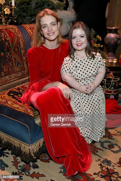 Natalia Vodianova and Sinead Burke attend the gala dinner during #BoFVOICES on December 1 2017 in Oxfordshire England