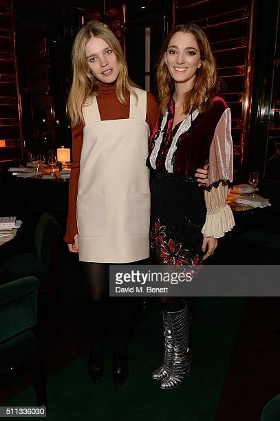 Natalia Vodianova and Sofia Sanchez de Betak attends a dinner hosted by The Luxury Collection Hotels Resorts and GlobeTrotter to celebrate the launch...