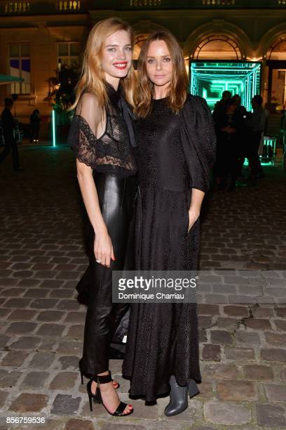 Natalia Vodianova and Stella McCartney attends the Fashion Tech Lab Launch Event Hosted By Miroslova Duma And Stella McCartney as part of Paris...