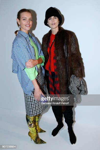Natalia Vodianova and Stella Tennant attend the Berluti Menswear Fall/Winter 20182019 show as part of Paris Fashion Week on January 19 2018 in Paris...