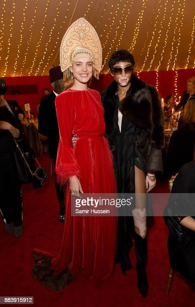 Natalia Vodianova and Winnie Harlow attend the gala dinner during #BoFVOICES on December 1 2017 in Oxfordshire England