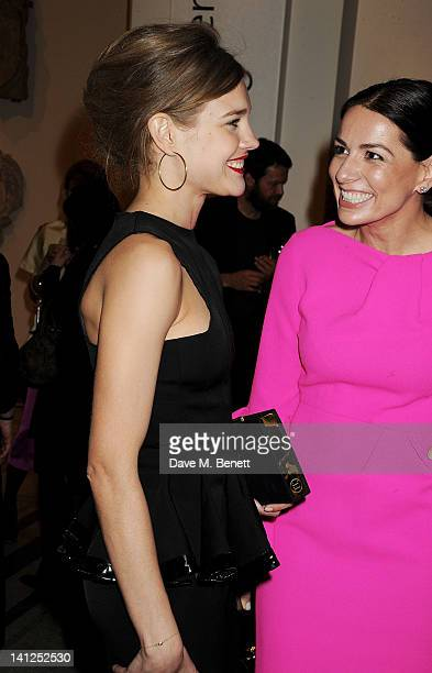 Natalia Vodianova and Yana Peel attend the VA Design Fund Gala at The VA on March 13 2012 in London England