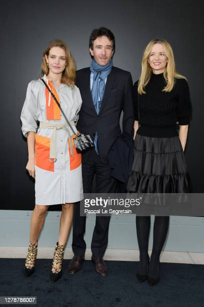 Natalia Vodianova, Antoine Arnault and Delphine Arnault attend the Louis Vuitton Womenswear Spring/Summer 2021 show as part of Paris Fashion Week on...