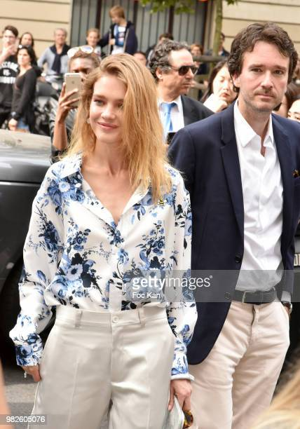 Natalia Vodianova Antoine Arnault attend the Dior Homme Menswear Spring/Summer 2019 show as part of Paris Fashion Week on June 23 2018 in Paris France