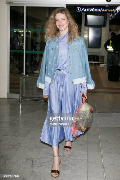 Natalia Vodianova arrives at Nice airport during the 70th annual Cannes Film Festival at on May 21, 2017 in Cannes, France.