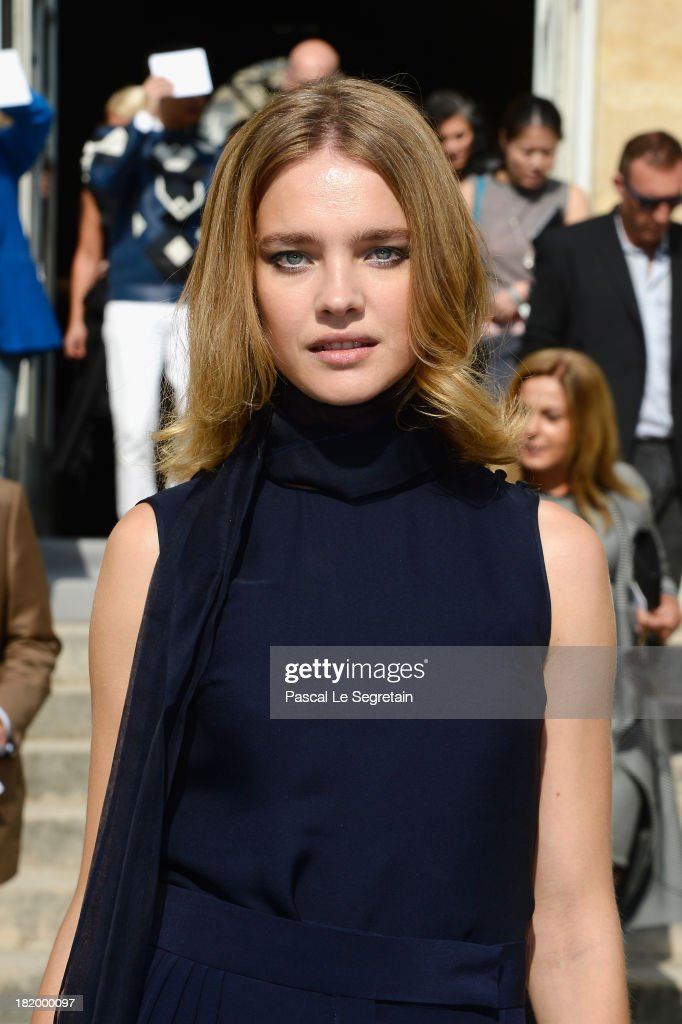 Natalia Vodianova arrives at the Christian Dior show as part of the Paris Fashion Week Womenswear Spring/Summer 2014 at Musee Rodin on September 27, 2013 in Paris, France.