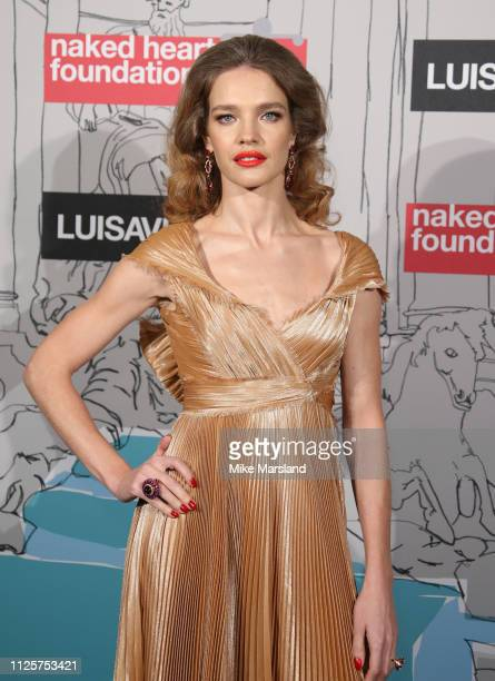 Natalia Vodianova arrives at the Fabulous Fund Fair event during London Fashion Week February 2019 at the The Roundhouse on February 18 2019 in...
