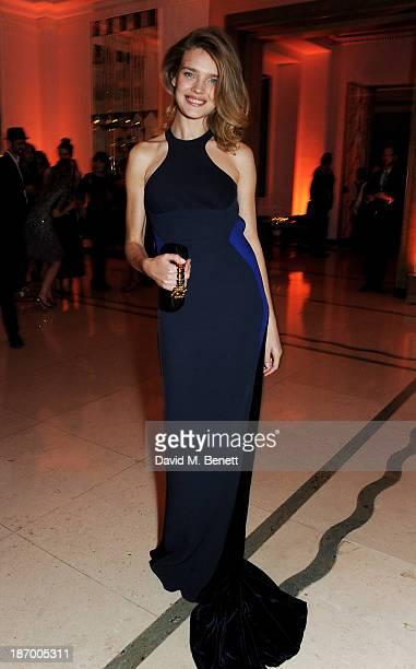 Natalia Vodianova arrives at the Harper's Bazaar Women of the Year awards at Claridge's Hotel on November 5 2013 in London England