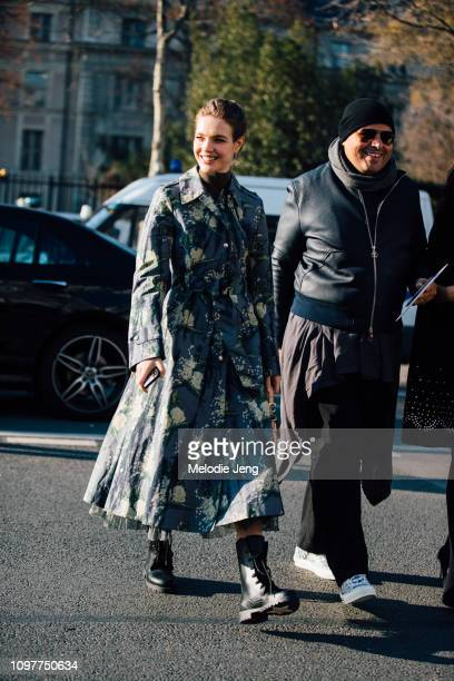 Natalia Vodianova at the Dior show during Couture SS19 Fashion Week on January 21 2019 in Paris France