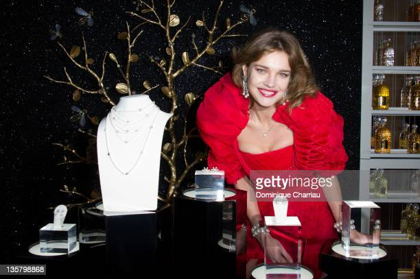 Natalia Vodianova attends 'A Russian Fairy Tale' Jewelry Launch Cocktail at Guerlain Boutique on December 14 2011 in Paris France