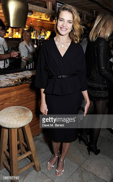 Natalia Vodianova attends as Elizabeth Saltzman hosts a private dinner celebrating the launch of Piers Adam's new restaurant 'Bodo's Schloss' on High...
