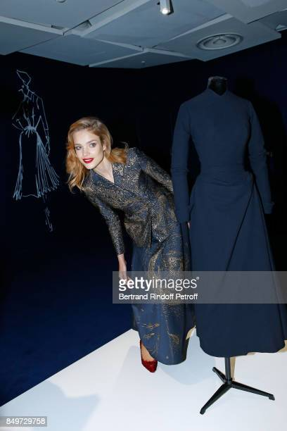 Natalia Vodianova attends Christian Dior celebrates 70 Years of Creation at the Galeries Lafayette Haussmann on September 19 2017 in Paris France