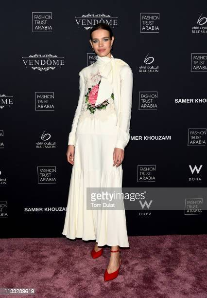 Natalia Vodianova attends Fashion Trust Arabia Gala at the Fire Station on March 28, 2019 in Doha, Qatar.