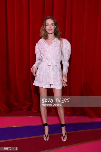 Natalia Vodianova attends Loubhoutan Express presentation at La Garde Republicaine on July 02, 2019 in Paris, France.