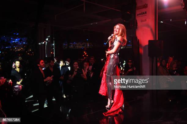 Natalia Vodianova attends the 2017 amfAR The Naked Heart Foundation Fabulous Fund Fair at Skylight Clarkson Sq on October 28 2017 in New York City