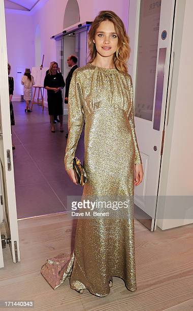 Natalia Vodianova attends the 'Arts For Life' charity auction hosted by Susan Hayden Nadja Swarovski and Natalia Vodianova to raise funds for Borne a...