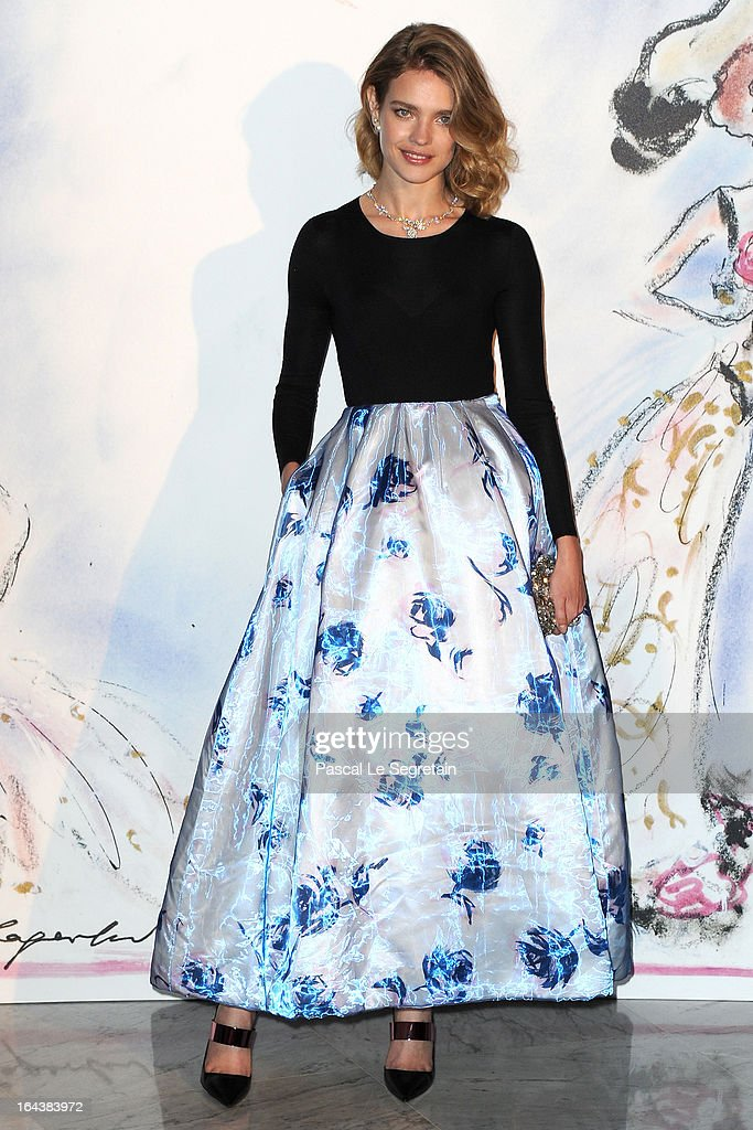 Natalia Vodianova attends the 'Bal De La Rose Du Rocher' in aid of the Fondation Princess Grace on the 150th Anniversary of the SBM at Sporting Monte-Carlo on March 23, 2013 in Monte-Carlo, Monaco.