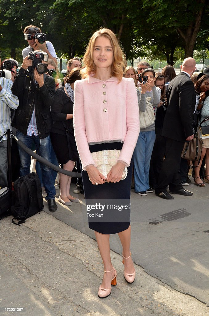 Natalia Vodianova attends the Chanel show as part of Paris Fashion Week Haute-Couture Fall/Winter 2013-2014 at the Grand Palais on July 2, 2013 in Paris, France.