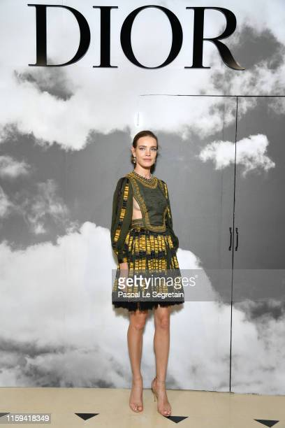 Natalia Vodianova attends the Christian Dior Haute Couture Fall/Winter 2019 2020 show as part of Paris Fashion Week on July 01, 2019 in Paris, France.
