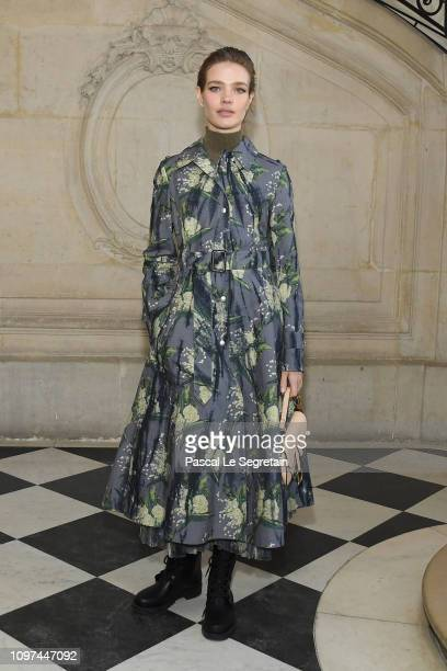 Natalia Vodianova attends the Christian Dior Haute Couture Spring Summer 2019 show as part of Paris Fashion Week on January 21, 2019 in Paris, France.