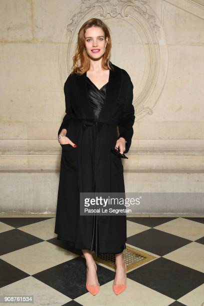 Natalia Vodianova attends the Christian Dior Haute Couture Spring Summer 2018 show as part of Paris Fashion Week on January 22 2018 in Paris France