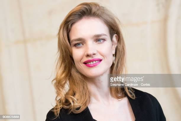 Natalia Vodianova attends the Christian Dior Haute Couture Spring Summer 2018 show as part of Paris Fashion Week January 22 2018 in Paris France