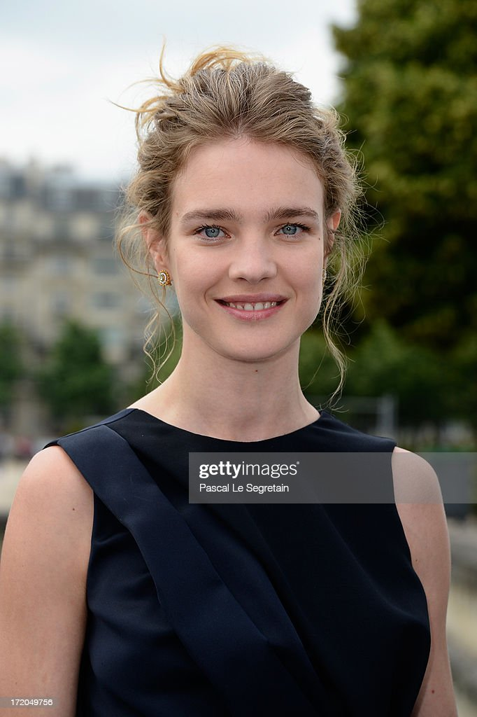 Natalia Vodianova attends the Christian Dior show as part of Paris Fashion Week Haute-Couture Fall/Winter 2013-2014 at Hotel Des Invalides on July 1, 2013 in Paris, France.