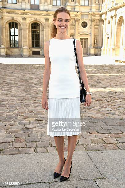 Natalia Vodianova attends the Christian Dior show as part of the Paris Fashion Week Womenswear Spring/Summer 2015 on September 26 2014 in Paris France