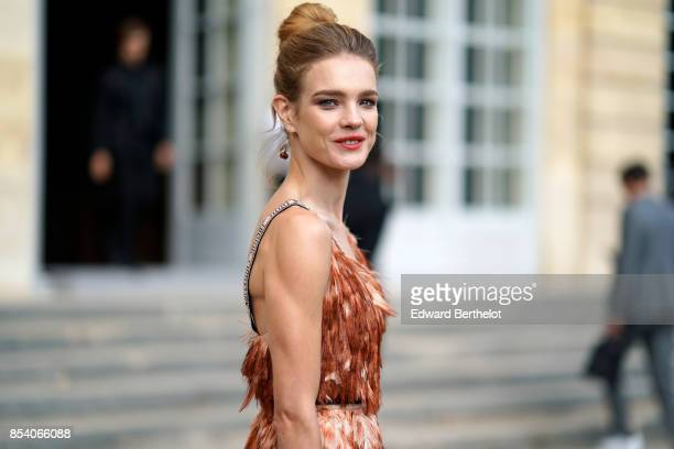 Natalia Vodianova attends the Christian Dior show as part of the Paris Fashion Week Womenswear Spring/Summer 2018 on September 26 2017 in Paris France