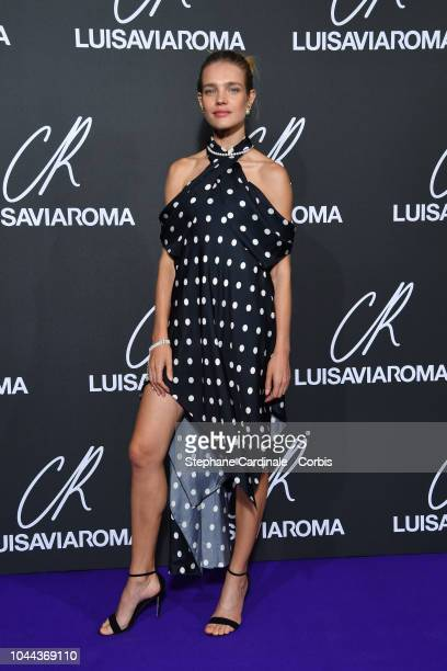 Natalia Vodianova attends the CR Fashion Book x Luisaviaroma Photocall as part of the Paris Fashion Week Womenswear Spring/Summer 2019 on October 1...