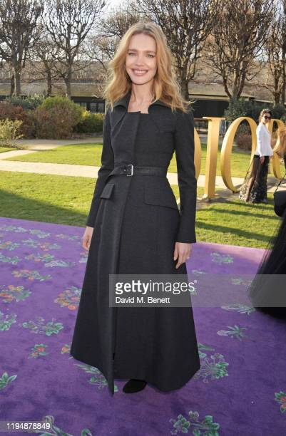 Natalia Vodianova attends the Dior Haute Couture Spring/Summer 2020 show as part of Paris Fashion Week at Musee Rodin on January 20 2020 in Paris...