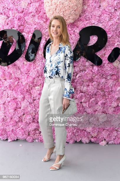 Natalia Vodianova attends the Dior Homme Menswear Spring/Summer 2019 show as part of Paris Fashion Week on June 23 2018 in Paris France