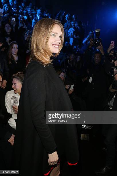 Natalia Vodianova attends the ETAM show as part of the Paris Fashion Week Womenswear Fall/Winter 20142015 on February 25 2014 in Paris France