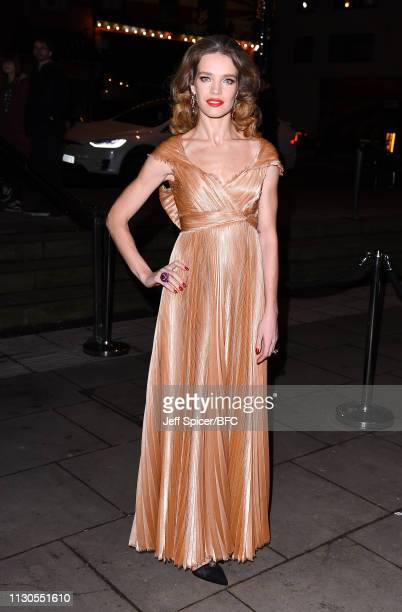 Natalia Vodianova attends the Fabulous Fund Fair during London Fashion Week February 2019 at The Roundhouse on February 18, 2019 in London, England.