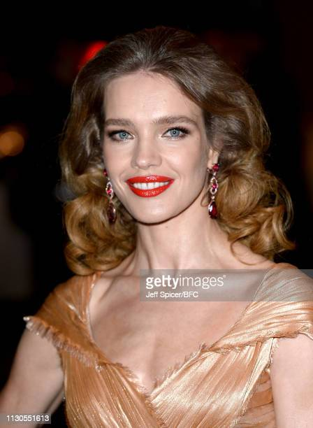 Natalia Vodianova attends the Fabulous Fund Fair during London Fashion Week February 2019 at The Roundhouse on February 18 2019 in London England
