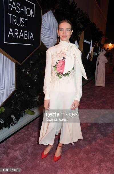 Natalia Vodianova attends the Fashion Trust Arabia Prize awards ceremony on March 28, 2019 in Doha, Qatar.