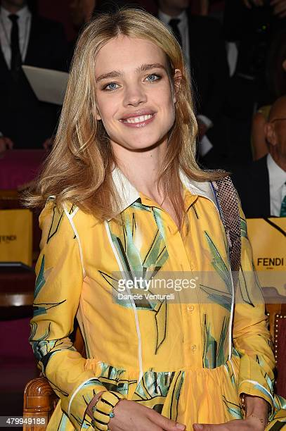 Natalia Vodianova attends the Fendi show as part of Paris Fashion Week Haute Couture Fall/Winter 2015/2016 on July 8 2015 in Paris France