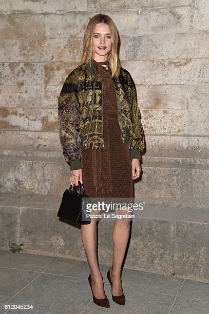 Natalia Vodianova attends the Givenchy show as part of the Paris Fashion Week Womenswear Spring/Summer 2017 on October 2 2016 in Paris France