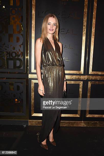 Natalia Vodianova attends the Gold Obsession Party L'Oreal Paris Photocall as part of the Paris Fashion Week Womenswear Spring/Summer 2017 on October...