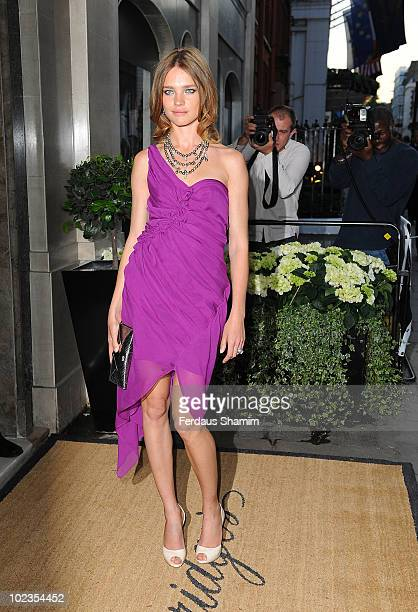 Natalia Vodianova attends the launch party for Diane von Furstenberg's new interior design project with Claridges at Claridges Hotel on June 23 2010...