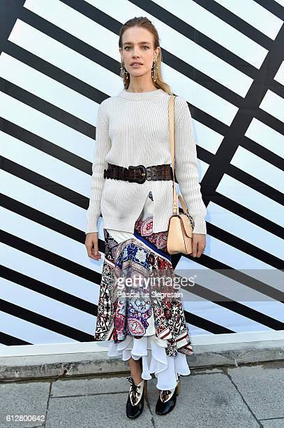 Natalia Vodianova attends the Louis Vuitton show as part of the Paris Fashion Week Womenswear Spring/Summer 2017 on October 5 2016 in Paris France